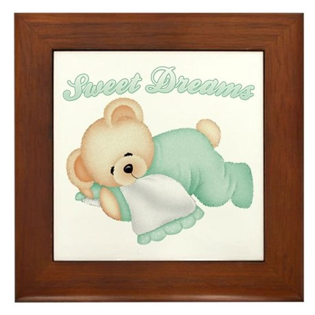Sweet Dreams Bear Framed Tile