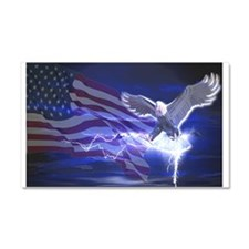 Eagle Storm Car Magnet 20 x 12