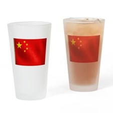 Chinese Flag Drinking Glass
