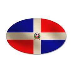 Dominican Flag 38.5 x 24.5 Oval Wall Peel