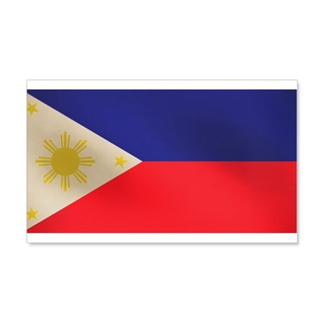 Philippine Flag 22x14 Wall Peel