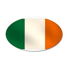 Irish Flag 22x14 Oval Wall Peel