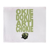 Okie Dokie Artichokie Throw Blanket