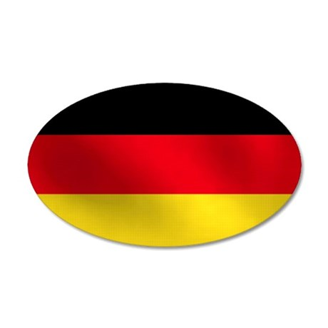 German Flag 38.5 x 24.5 Oval Wall Peel