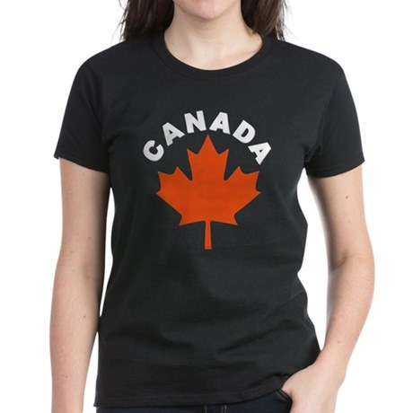 Canadian Maple Leaf Women's Dark T-Shirt