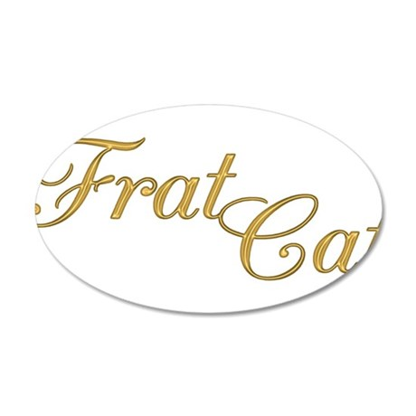 Frat Cat 38.5 x 24.5 Oval Wall Peel