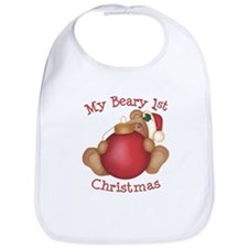Beary 1st Christmas Bib
