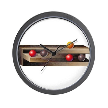 Optical Shelves Wall Clock