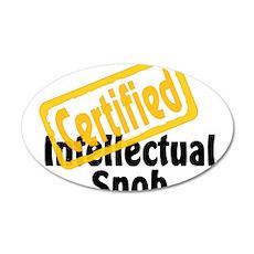 Intellectual Snob 22x14 Oval Wall Peel