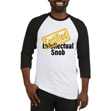 Intellectual Snob Baseball Jersey