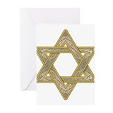 Jewish star of david Greeting Cards (10 Pack)