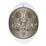 RN Caduceus Ornament (Oval)