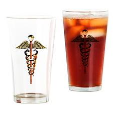MD Caduceus Drinking Glass