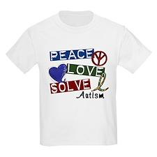Peace Love Solve Autism T-Shirt