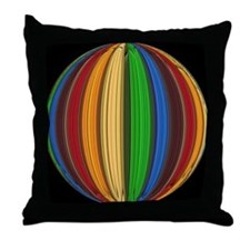 RAINBOW COLORED CIRCLES 3 Throw Pillow