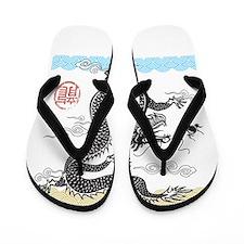 Chinese Dragon Flip Flops