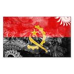Angola Flag Sticker (Rectangle 10 pk)
