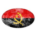 Angola Flag Sticker (Oval 10 pk)