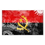 Angola Flag Sticker (Rectangle)