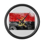 Angola Flag Large Wall Clock