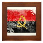 Angola Flag Framed Tile
