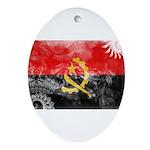 Angola Flag Ornament (Oval)