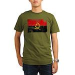 Angola Flag Organic Men's T-Shirt (dark)