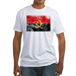 Angola Flag Fitted T-Shirt