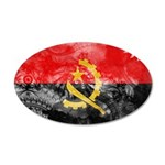 Angola Flag 38.5 x 24.5 Oval Wall Peel