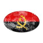 Angola Flag 22x14 Oval Wall Peel