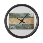 Argentina Flag Large Wall Clock