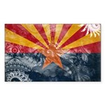 Arizona Flag Sticker (Rectangle 10 pk)