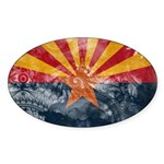 Arizona Flag Sticker (Oval)