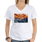 Arizona Flag Women's V-Neck T-Shirt