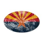 Arizona Flag 22x14 Oval Wall Peel