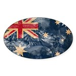 Australia Flag Sticker (Oval 10 pk)