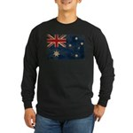 Australia Flag Long Sleeve Dark T-Shirt
