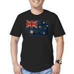 Australia Flag Men's Fitted T-Shirt (dark)