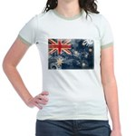 Australia Flag Jr. Ringer T-Shirt