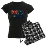 Australia Flag Women's Dark Pajamas