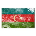 Azerbaijan Flag Sticker (Rectangle 10 pk)