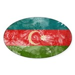 Azerbaijan Flag Sticker (Oval)