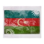 Azerbaijan Flag Throw Blanket