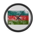 Azerbaijan Flag Large Wall Clock