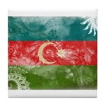 Azerbaijan Flag Tile Coaster