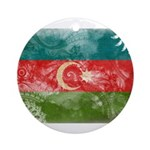 Azerbaijan Flag Ornament (Round)