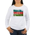 Azerbaijan Flag Women's Long Sleeve T-Shirt