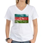 Azerbaijan Flag Women's V-Neck T-Shirt