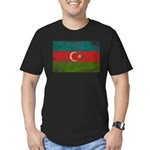 Azerbaijan Flag Men's Fitted T-Shirt (dark)
