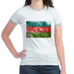 Azerbaijan Flag Jr. Ringer T-Shirt